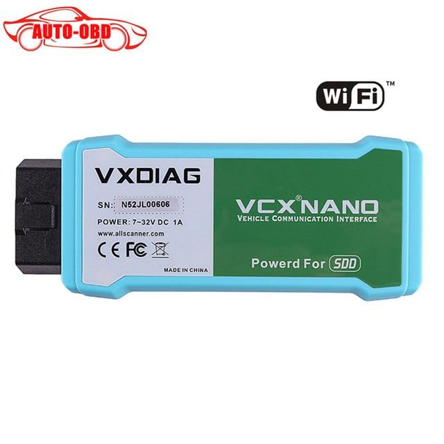 Vxdiag vcx nano para land rover/jaguar v141 vxdiag vxdiag vcx nano auto herramienta de diagnóstico para land rover/jaguar wifi version