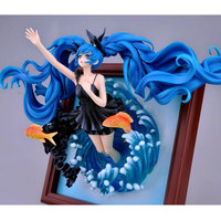 Deep sea girl Ver. Hatsune Miku Anime Figure Photo Frame 1/8 Scale PVC Action Figure WF2014S Virtual Diva Collection Model Toys