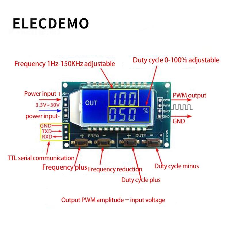 Модуль ШИМ  частота импульсов  регулируемый модуль  генератор прямоугольных и прямоугольных