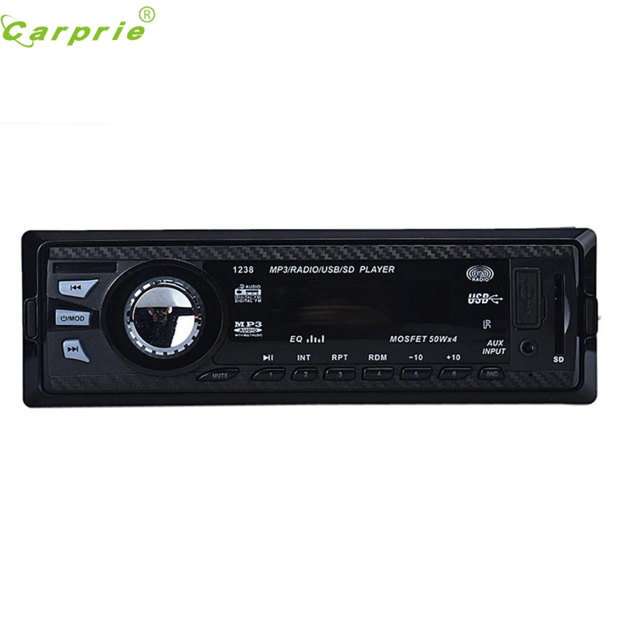 New Arrival Car Audio Stereo In Dash FM With Mp3 Player USB SD Input AUX Receiver 1238 Fe7