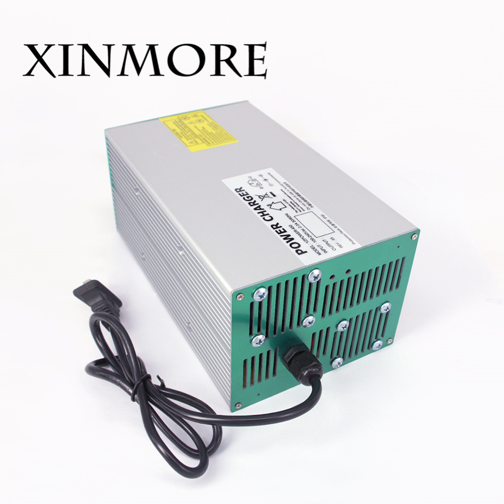 XINMORE 54.6V 15A 14A 13A Lithium Battery Charger For 48V Ebike E-bike Li-Ion Lipo Battery Pack AC DC Power Supply free customs taxes super power 1000w 48v li ion battery pack with 30a bms 48v 15ah lithium battery pack for panasonic cell