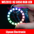 3 шт. WS2812-16 интеллектуальные RGB LED циркуляр правления/5050 RGB LED Встроенный полноцветный дальнего света