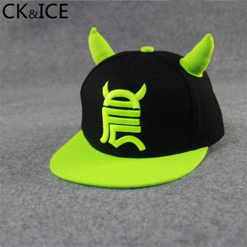 CK ICE Fashion Men Womens Bones Snapbacks Whiteboard Little Devil Horns  Ears Hip Hop Cap Baseball Caps Female Hats 2fe77b015