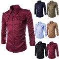 2017 Mens Premium Stylish Lapel Neck Comfy Tops Long Sleeve Button Down Casual Formal Slim Fit Dress Shirt