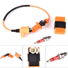 Racing Ignition Coil CDI + Ignition Coil + Spark Plug For GY6 50cc 125cc 150cc Accessories(China)