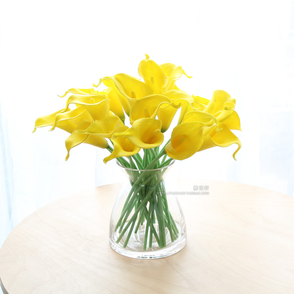 (10 piece/lot)Free shipping Pu mini calla artificial flower decorative artificial flower decoration flower