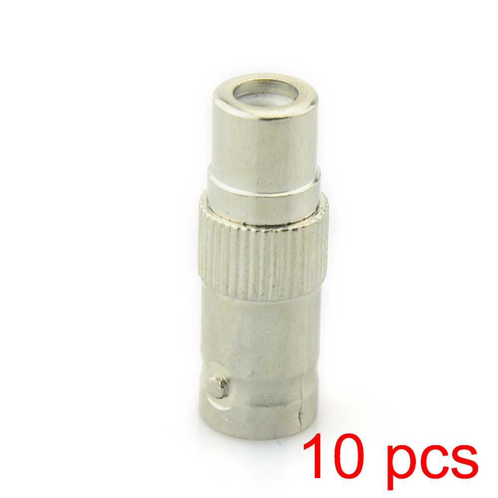 10x BNC Female To RCA Female Coupler Coaxial RG59 Converter Adapter CCTV Jack