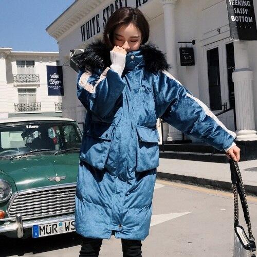 weiblicherwinddichter Baumwolle Daunenjacke Damen mit Stilvolle dicke aus Samtgold gef tdCxshBQor
