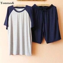 Пижамный комплект для мужчин пижамы летние Модальные короткий рукав шорты для женщин Lounge одежда отдыха