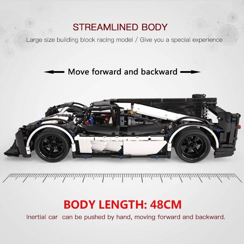 23018 Technic serii MOC hybrydowy Le Mans Super Race Car mistrz Building Blocks ustawia zestawy klocków zabawki kompatybilne z 5530 w Klocki od Zabawki i hobby na  Grupa 2