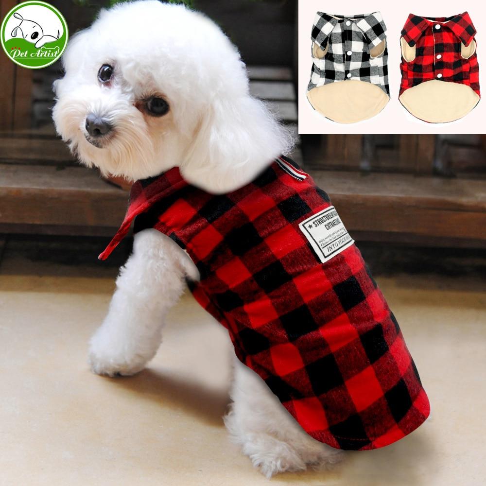 British Style Plaid Dog Vest Winter Windproof Pet Cotton Dog Jacket Coats Warm Dog Apparel