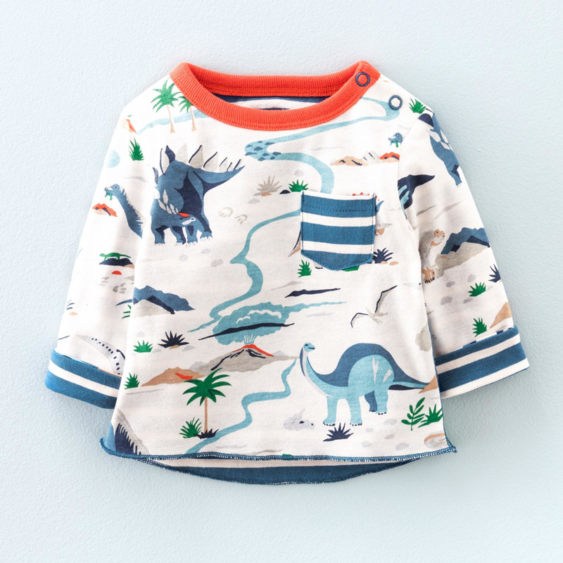 Футболка для мальчиков 18 мес.-6 лет детские футболки брендовые футболки для маленьких мальчиков детские худи красивая толстовка с длинными ...