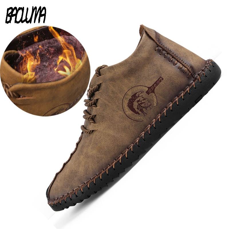New Mens Black Boots Warm Winter Men Designer Boots Split Leather Casual Men Shoes With Plush Men Dress Work Platform Boots plush casual suede shoes boots mens flat with winter comfortable warm men travel shoes patchwork male zapatos hombre sg083