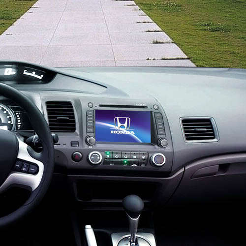 Honda Civic 2019 Indash Navigation Android System: Android 4.0 2 Din In Dash Car DVD Player For HONDA CIVIC