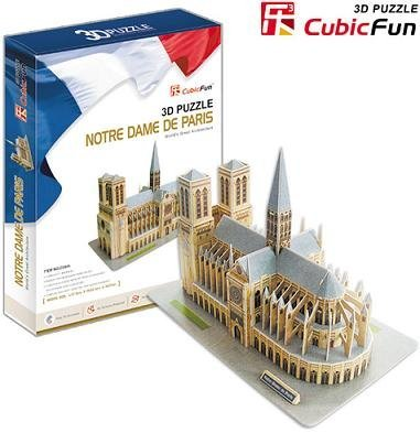 Notre Dame De Paris,Cubic Fun 3D Jigsaw Puzzle,3D paper model,DIY puzzle,Best Educational Gift