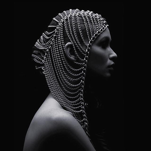 Exagerado ouro/prata cadeia tiaras mulheres punk palco partido bijoux multicamadas cadeia cabeça headwear jóias cabelo Testa 2016