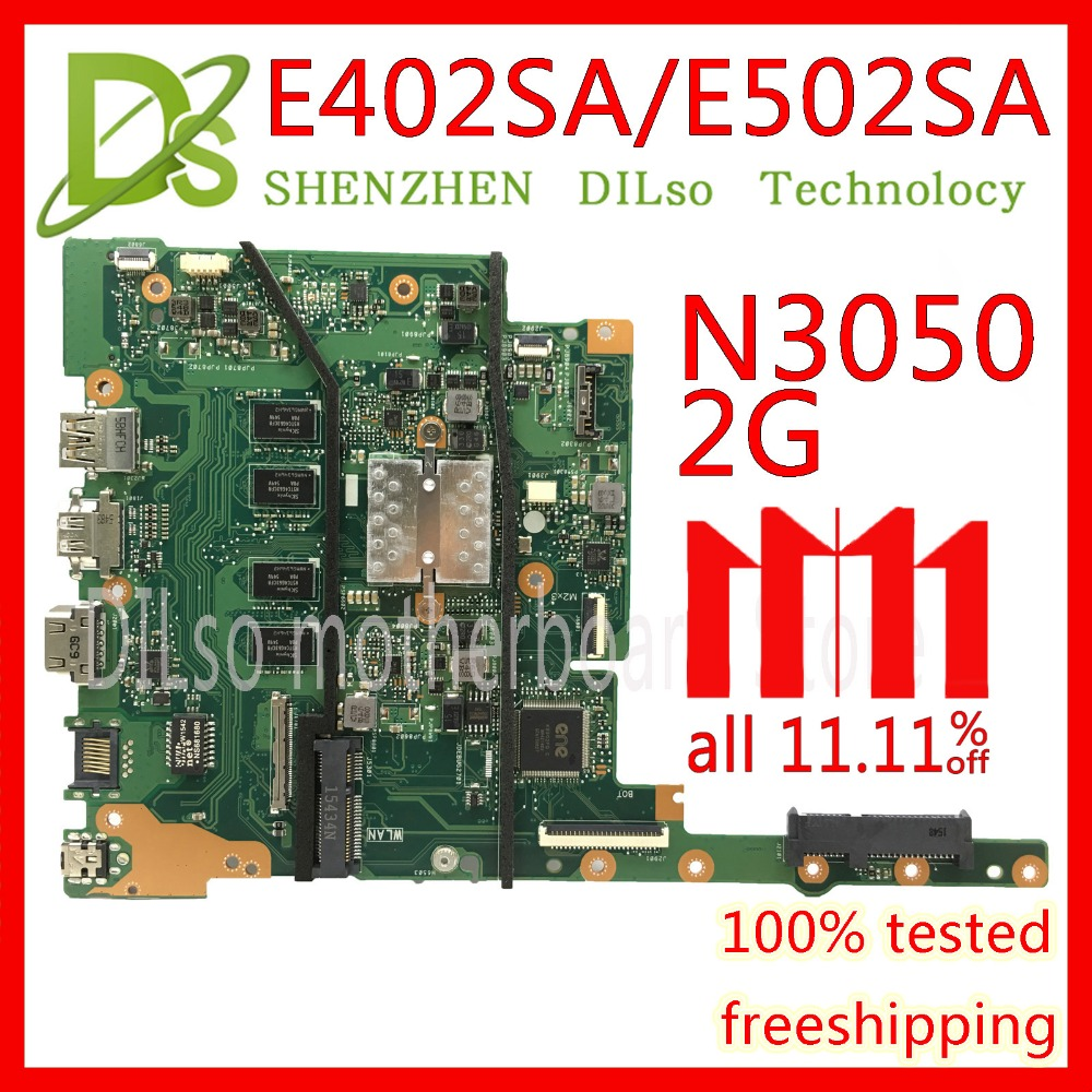 KEFU E402SA motherboard For ASUS E402SA E502SA laptop motherboard N3050 CPU 2G RAM Original Integrated Test motherboard стоимость