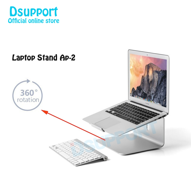 все цены на Aluminum Alloy 360 Degree Rotation Adjustable Laptop Stand 15 degree Angle for Home/Office 11-17 inch Notebook AP-2 онлайн
