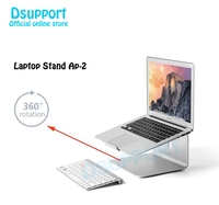 Aluminum Alloy 360 Degree Rotation Adjustable Laptop Stand 15 degree Angle for Home/Office 11 17 inch Notebook AP 2