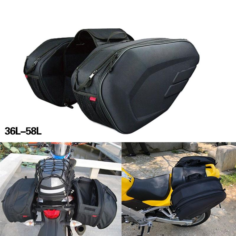 New Motorcycle Tool Bag Bags Luggage Saddle Bags with Rain Cover 36-58L Waterproof For motor suzuki KTM PIAGGIO Aprilia Motor кофры komine