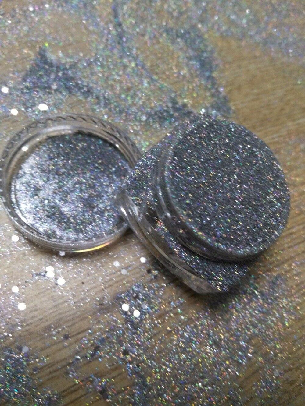 Holographische Glitter Staub Pulver 0,2mm Größe Nägel Kunst Diy Tipps Uv Acryl Dekoration Sparkly Bunte Laser Silber 5g Rey45
