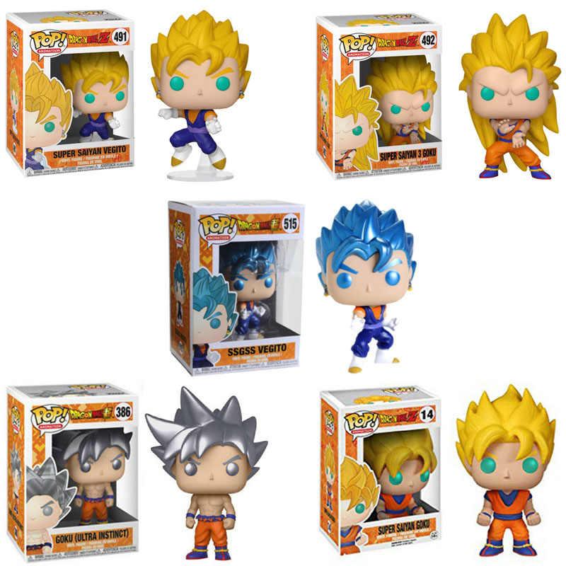 FUNKO POP Dragon Ball SUPER SAIYAN GOKU Vegetto Migatte Não Gokui Action Figure Coleção Modelo Brinquedos para Presente de Crianças
