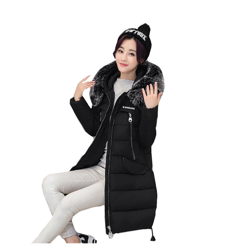 Winter new cultivate one's morality winter coat the women's cotton female long thickening winter coat women free shipping to women new winter down jacket large collars thickening ms cultivate one s morality