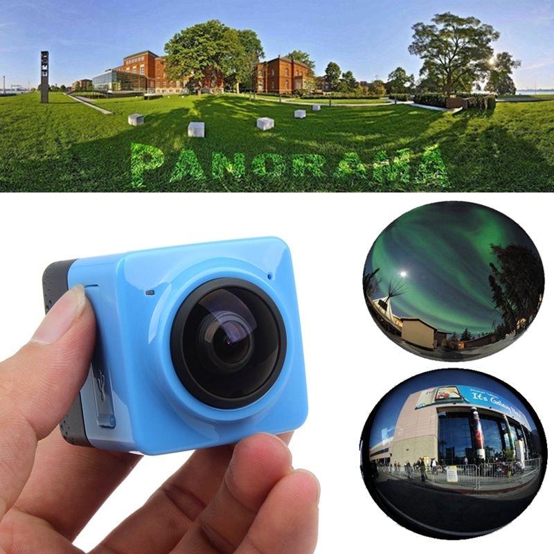 Free Shipping!Eyoyo Cube 360 Degree Sports Video Camera WIFI 1280*1042 Panorama Camera Blue