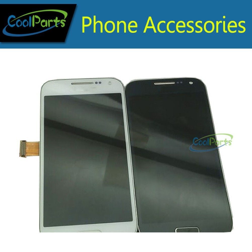 Blue and white color For Samsung  S4Mini LCD Display Touch Screen Digitizer  Assembly With Frame Free Shipping 1PC/Lot 1 pcs for iphone 4s lcd display touch screen digitizer glass frame white black color free shipping free tools