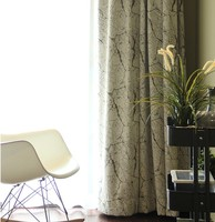 [byetee] Chenille Kitchen Ready Made Curtains For Blackout Living Room Stripe Bedroom Modern Drapes Window Door Curtain
