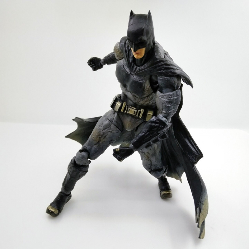 27cm Play Arts KAI Batman Arkham Knight PVC Action Figure Collectible Model Toy Bat Man Series Movie Figure Kids DIY Model Toys playarts kai batman arkham knight batman blue limited ver brinquedos pvc action figure collectible model doll kids toys 28cm