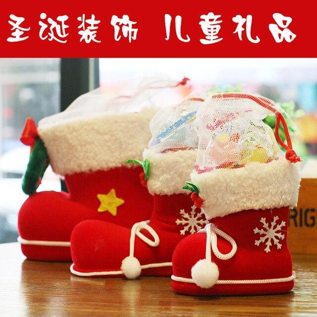 Us 1251 9 Offboże Narodzenie Prezenty Dla Dzieci Cukierki Buty Dekoracje Na Boże Narodzenie Małe Torebki Na Prezent Na Boże Narodzenie Skarpetki