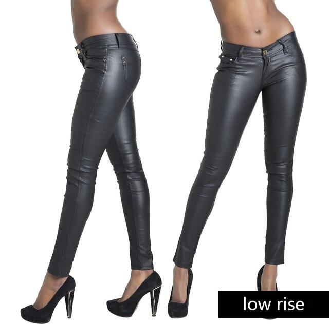 Мода новые женщин кожаные штаны PU брюки тощий карандаш брюки женщины кожаные леггинсы джинсы femme feminino