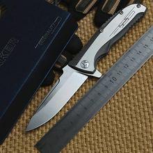 Ben Maker 1 design Original ceramic ball bearing Flipper folding knife VG-10 TC4 Titanium handle camping hunting knife EDC tool.