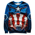 Alisister 2017 new fashion men/women's captain america sweatshirt printed superman/Flowers/graphic hoodie 3d Harajuku sweatshirt