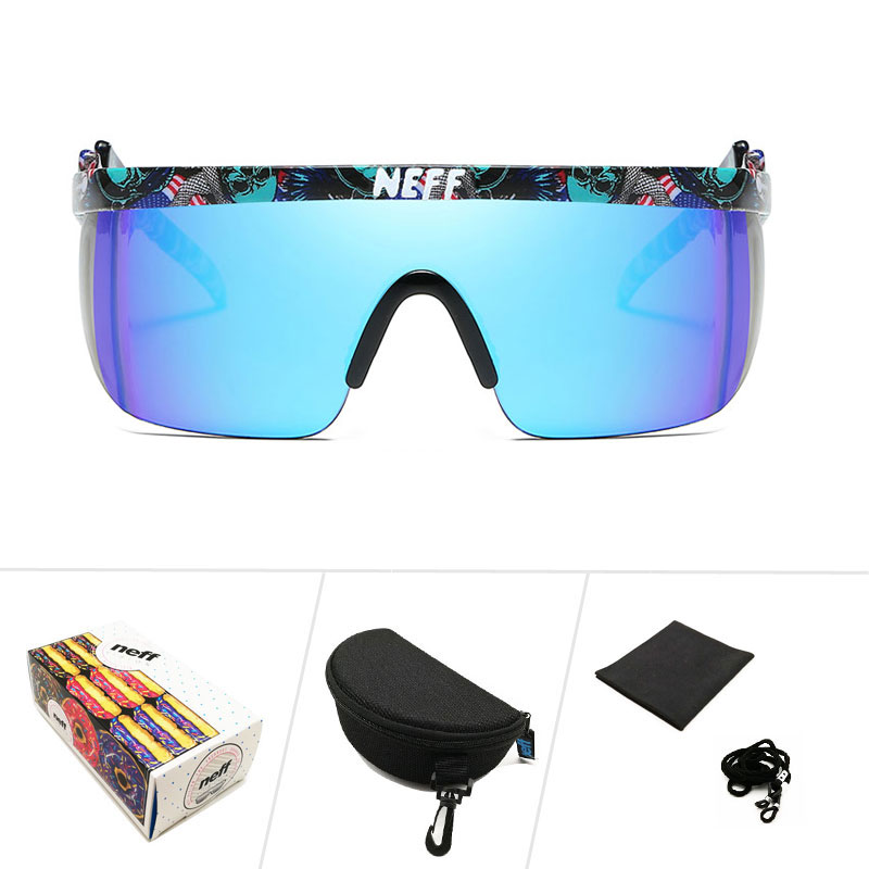 1ef0fcd6bde White Neff Sunglasses Men Brand Designer Women Vintage Square Clip On Sport  Male Oversized Sun Glasses