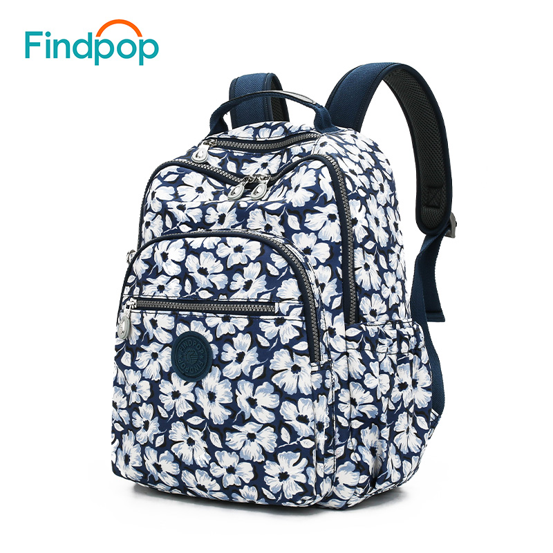 Findpop Vintage Floral Print Backpacks Women Fashion Multifunction Canvas Backpacks Casual School Backpack Bags For Women 2018 lining splicing floral print casual wide hem organza midi skirt for women