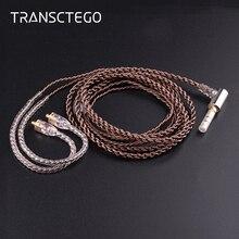 קו אוזניות משודרגת חום מותאם אישית DIY אביזרי מתכת באיכות גבוהה ארוג ביד טהורה חוטי נחושת גביש יחיד