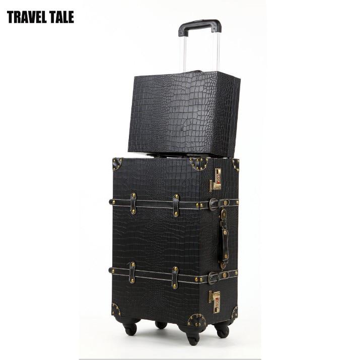 2PCS/SET Vintage PU Leather Travel Luggage,12