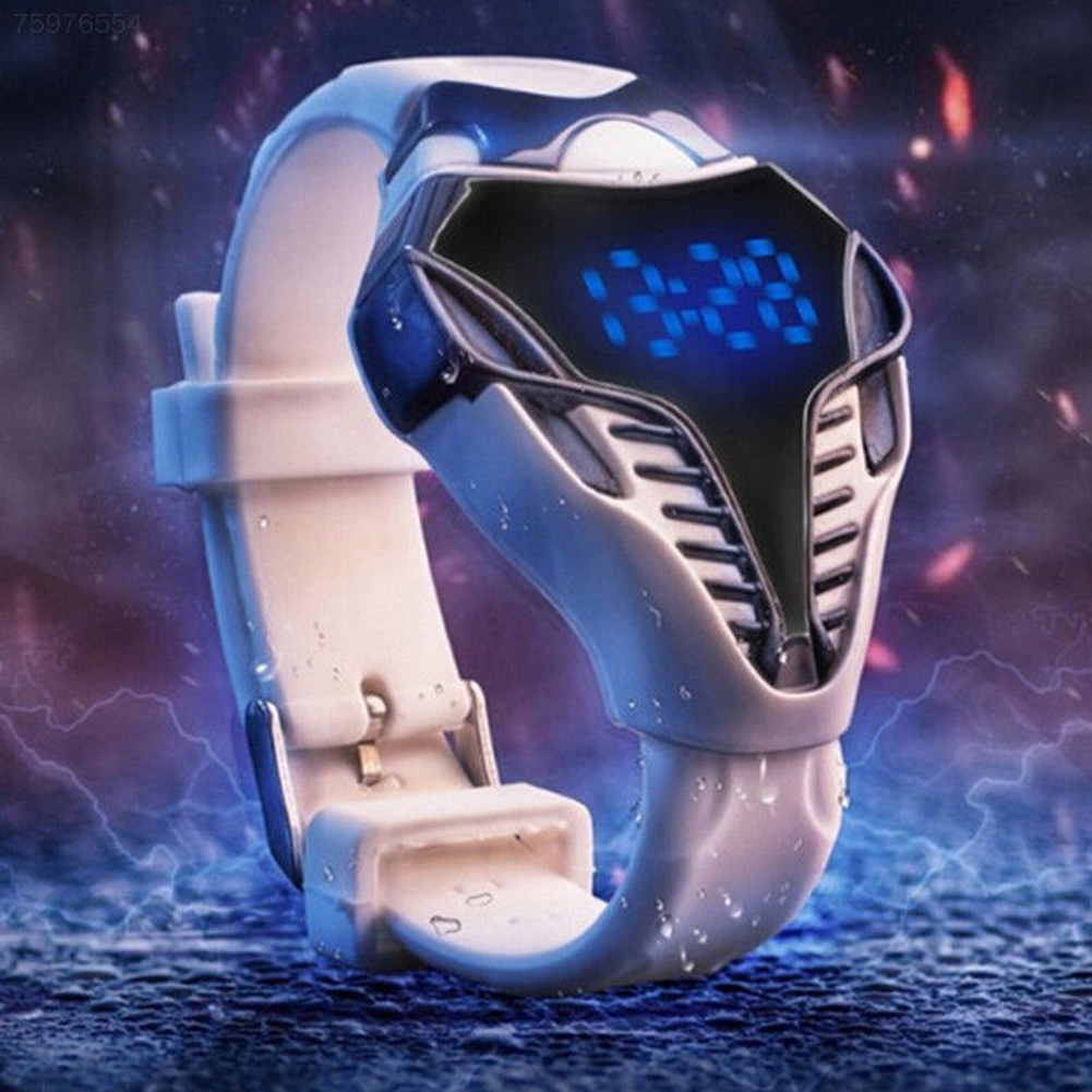 Cool Sport Calendar Wristwatch Valentine's Day Digital Watch Children Electronic Silicone Led Triangle Dial Reminder Fashion