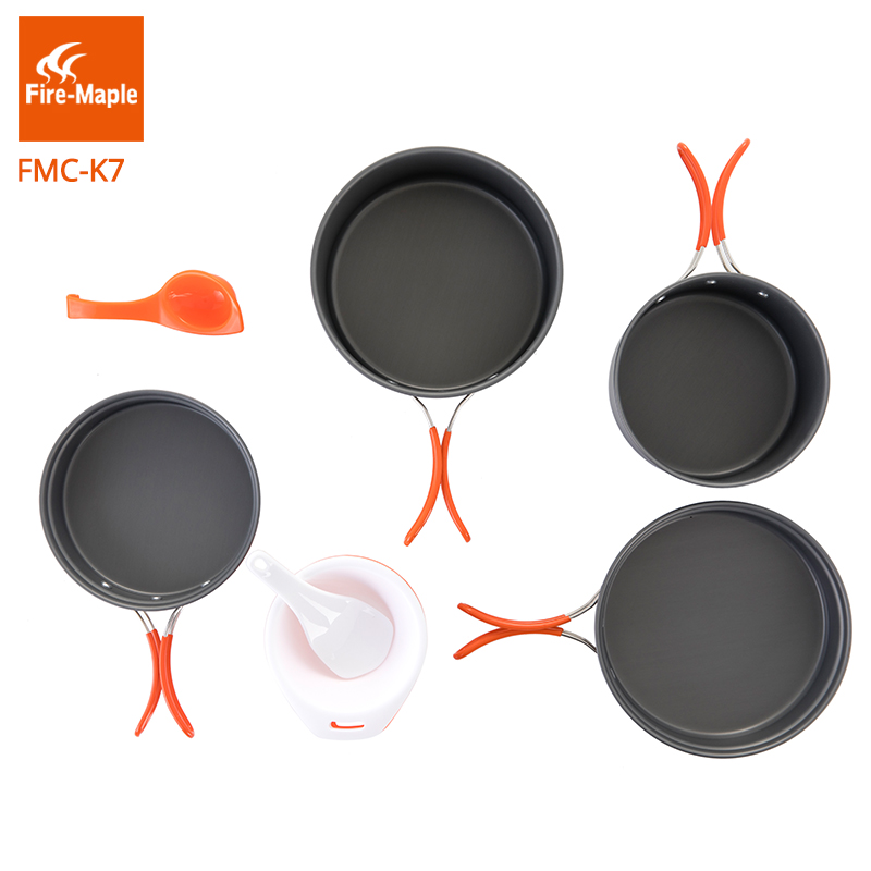 Fire Maple Pots Set Outdoor Camping Foldable Cooking Cookware Aluminum Alloy for 2-3 Persons FMC-K7 колесные диски replica a102 9х20 5х112 66 6 ет33 s
