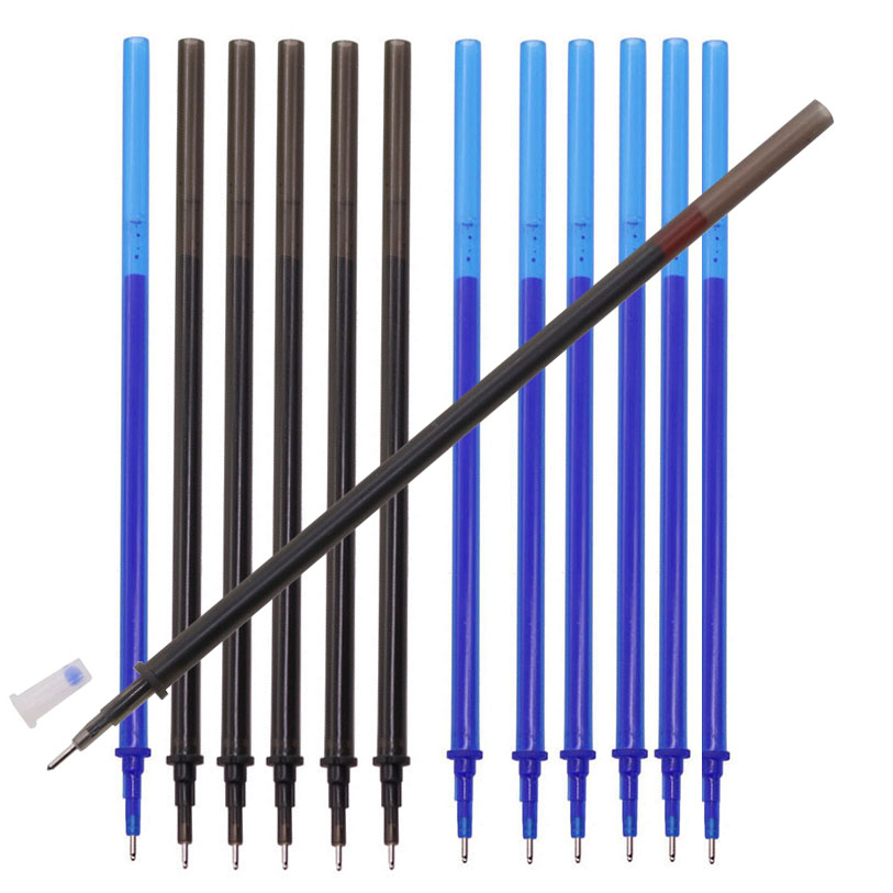 200 Pcs 0.5mm Refill Gel Pen Erasable Refill Blue And Black Optional Student Stationery Office Supplies Wholesale