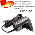 ac adapter 20v 2.25a For Lenovo IdeaPad Flex 10 S210 Touch 20257 Yoga 11S Convertible T440 20B6005YGE X1 for lenovo 20V 2.25A