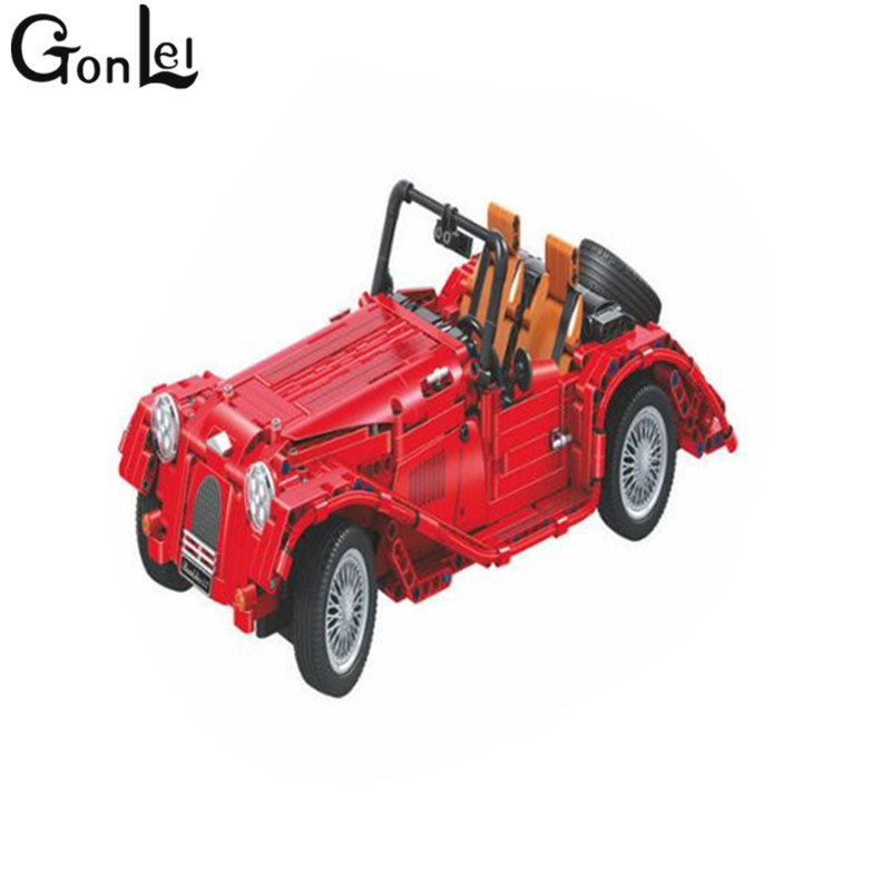 GonLeI 7062 Technic convertible car building bricks blocks toys for children Boy Game Bela Christmas gifts compatible Legoingly yile 107 2 in 1 3353 3354 technic motorbike motorcycle car building bricks blocks toys for children boy game bela 8051