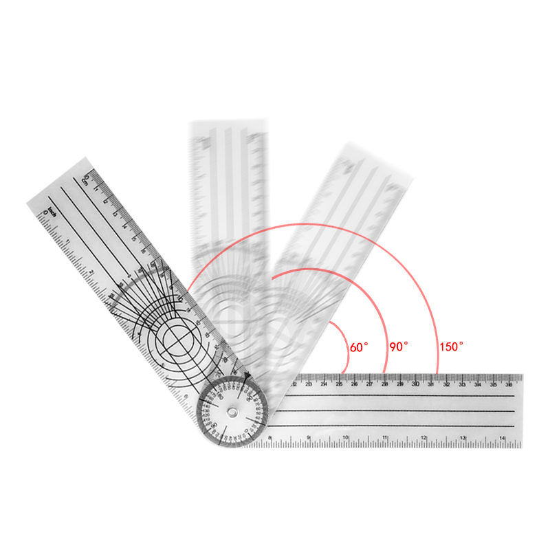 0-140mm  360 Degree Goniometer Angle Medical Spinal Angle Ruler Angle Inclinometer Ruler Protractor Angle Finder Measuring Tool