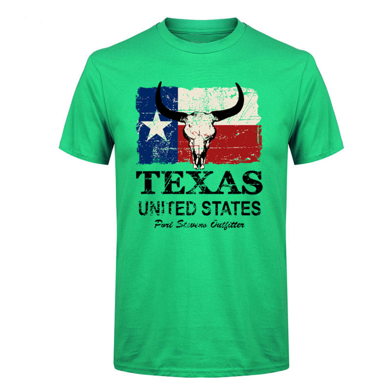 America Texas State Flag T-Shirt Hooded with A Pocket Rope Hat Customization Fashion Novelty 3D Mens