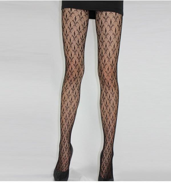 Fashion Womens Lady Girls Black Sexy Fishnet Pattern Jacquard Stockings Pantyhose Tights  skull Woman 1pcs dww43 1