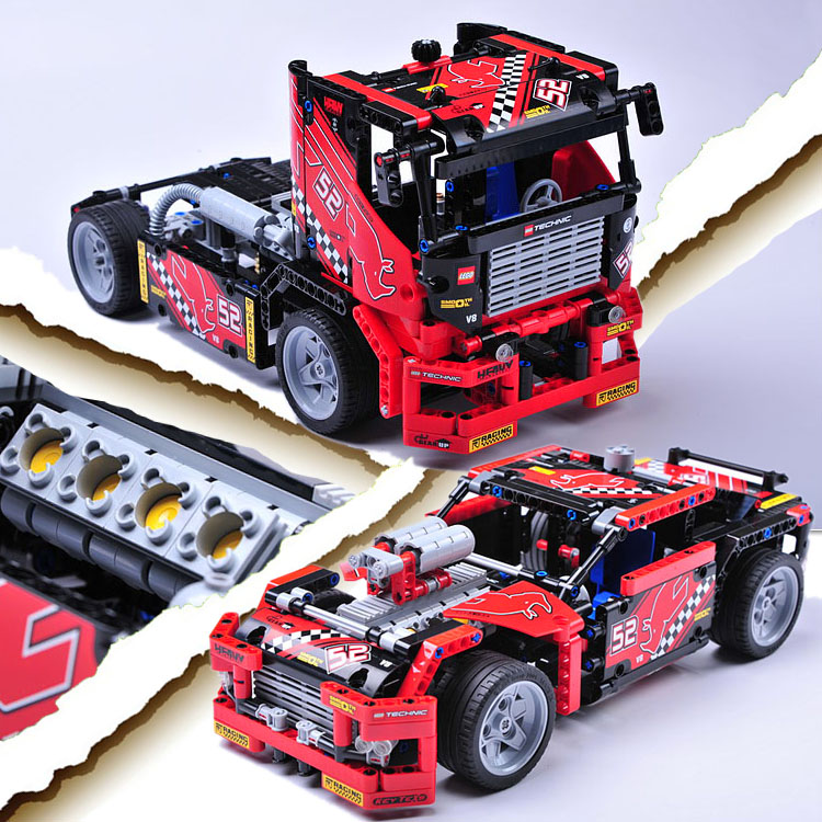 608pcs Race Truck Car 2 In 1 Transformable Model Building Block Sets Decool 3360 DIY Toys Compatible With 42041 Technic gift 3360 decool technic city series 2 in 1 race truck car model building blocks enlighten figure toys for children compatible legoe