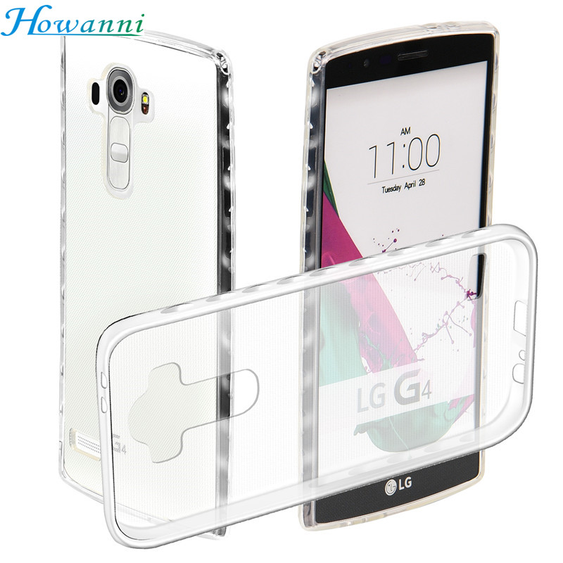 Howanni Soft Protector Transparent Case For LG G4 Case Silicone 5 5 Inch Back Cover For
