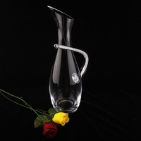Elegant Unique Design Crystal Long Handle Wine Decanter